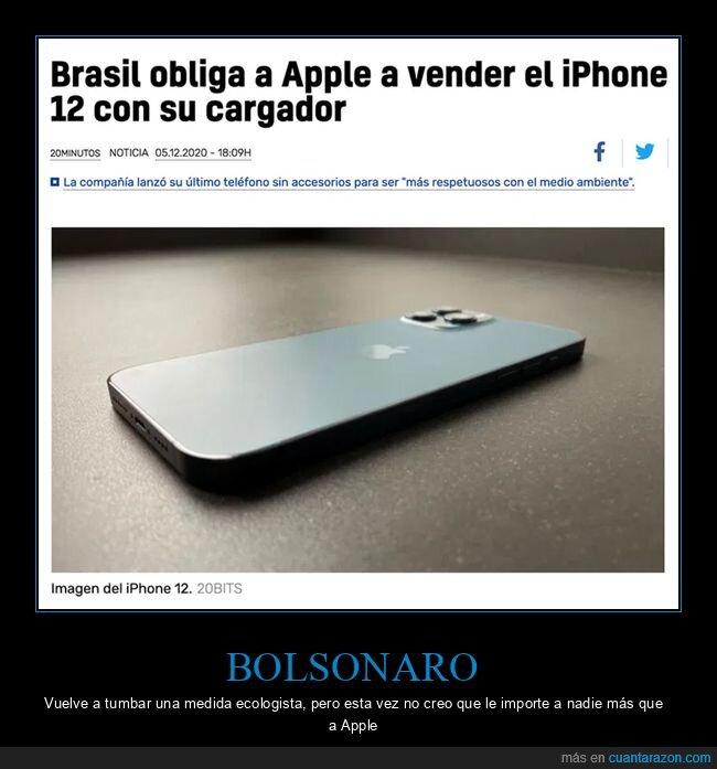 brasil,cargador,iphone 12,obligar
