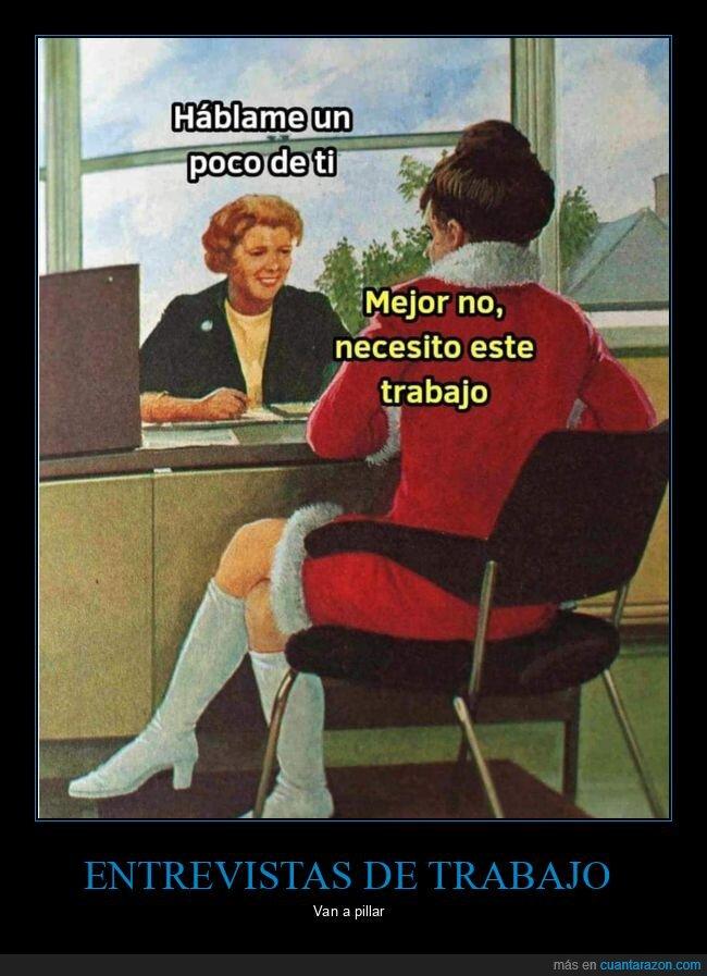 entrevista de trabajo,hablar