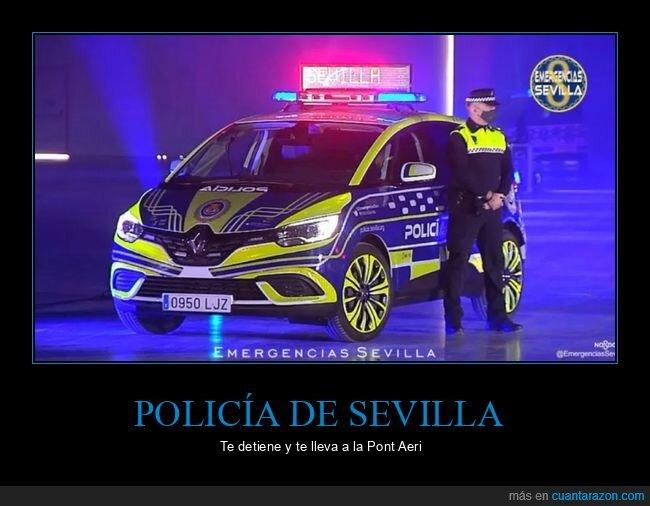 coches,policía,sevilla,wtf