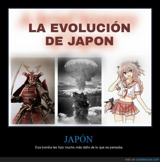 bomba atómica,evolución,japón