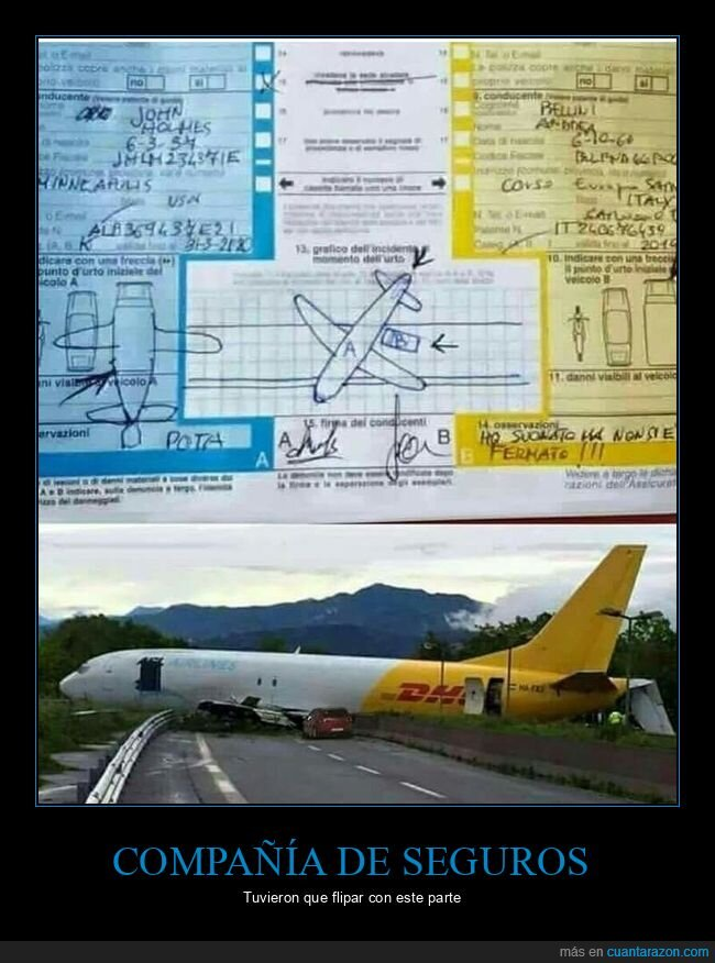 avión,coches,fails,parte,seguro
