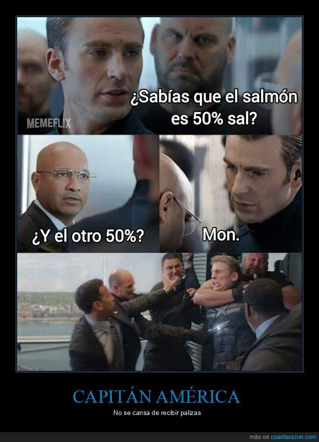 capitán américa,sal,salmón