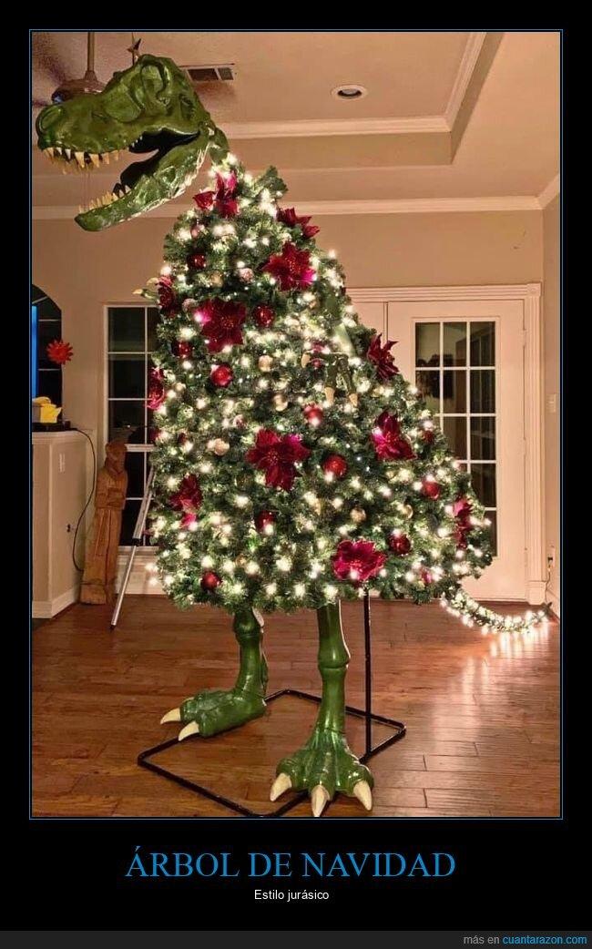 árbol de navidad,dinosaurio