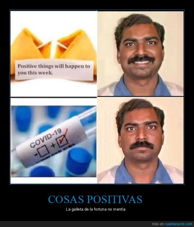 coronavirus,galleta de la fortuna,positivo