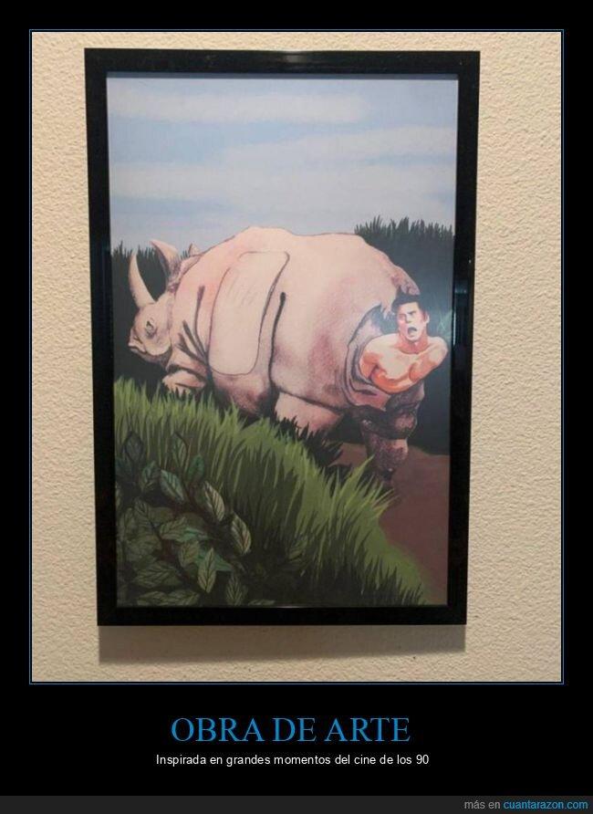 ace ventura,cuadro,rinoceronte