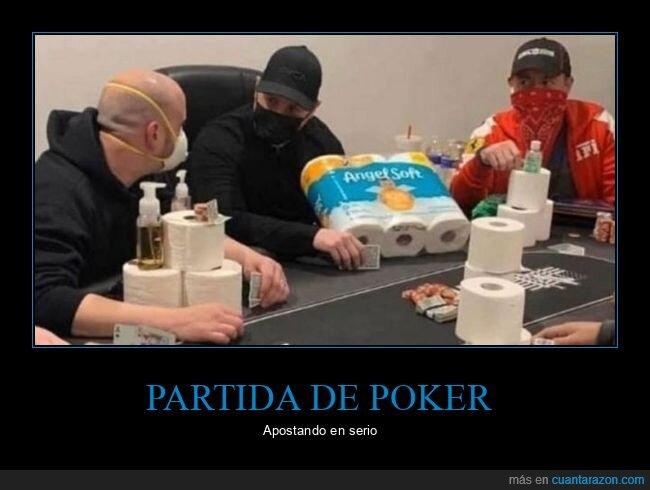 papel higiénico,poker