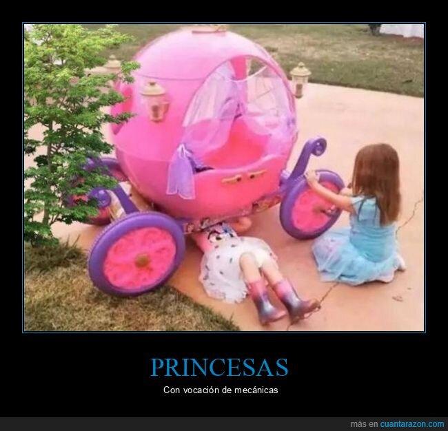 carruaje,mecánicas,princesas