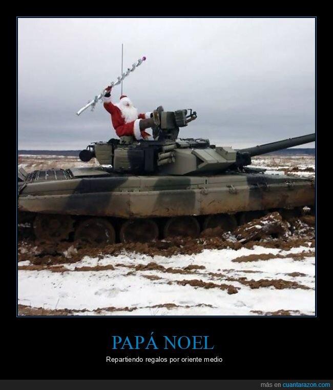 papá noel,tanque,wtf