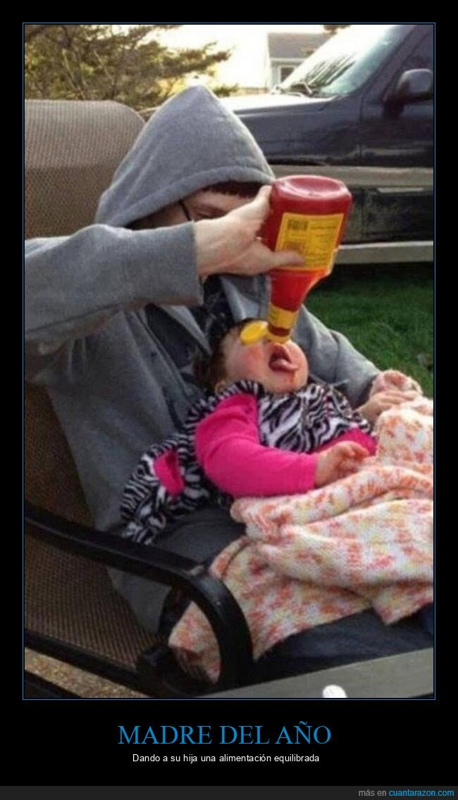 hija,ketchup,madre,wtf