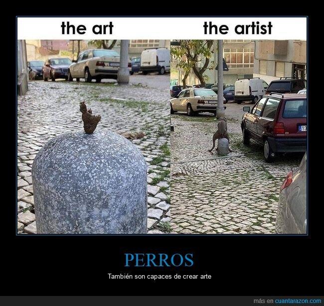 arte,artista,mierda,perros