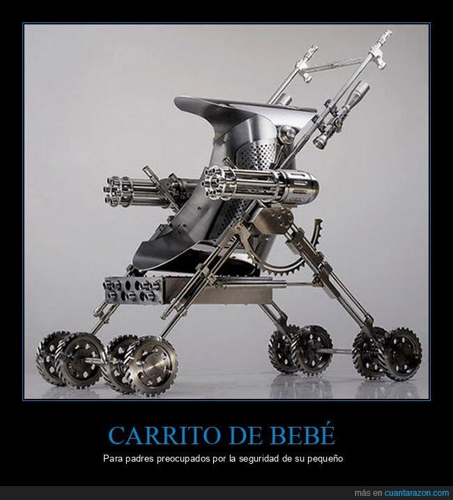 armas,bebé,carrito,wtf