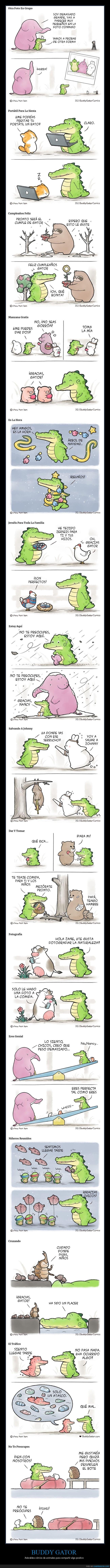 aligator,buddy gator,cómics