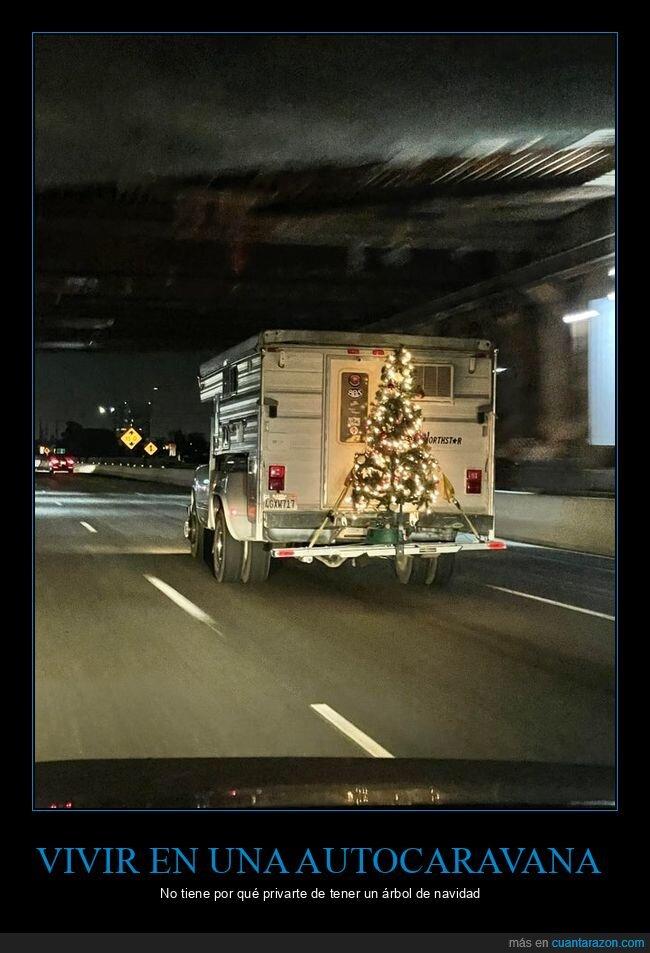 árbol de navidad,autocaravana
