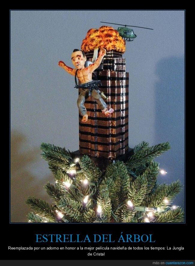 árbol de navidad,estrella,jungla de cristal