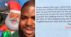 Enlace a Este hombre decidió decorar su jardín con un Papá Noel negro, y recibió una carta de un vecino racista