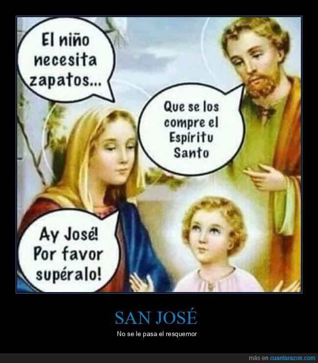 espíritu santo,niño jesús,san josé,zapatos