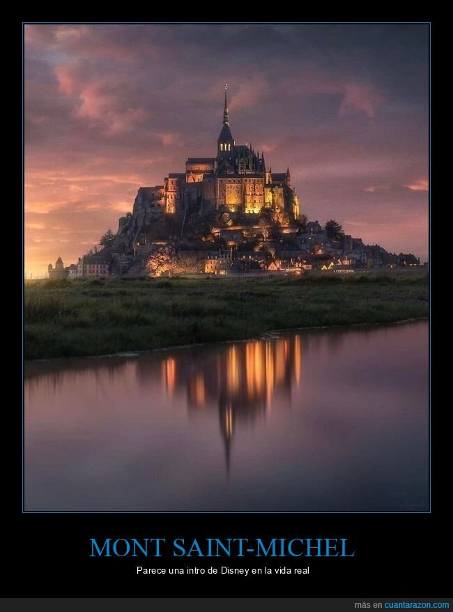 castillo,disney,mont saint-michel,parecidos