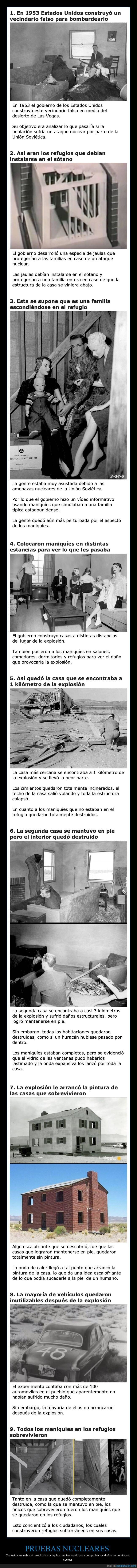 maniquíes,pruebas nucleares