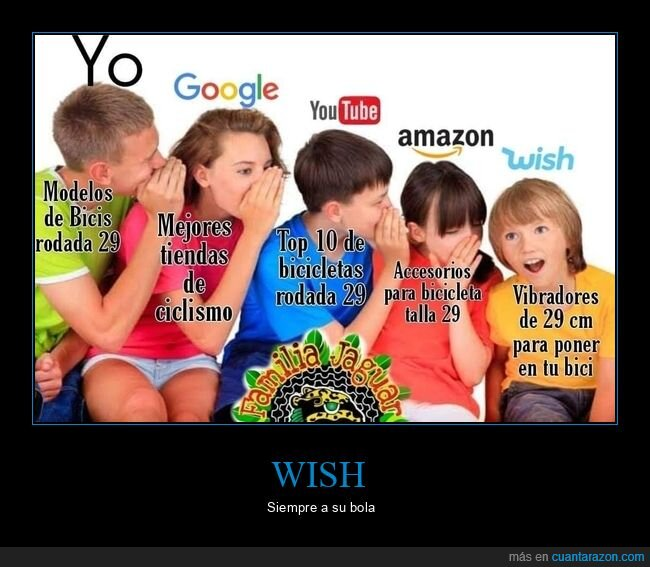 amazon,google,wish,youtube