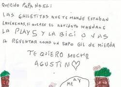 Enlace a La carta de Agustín a Papá Noel
