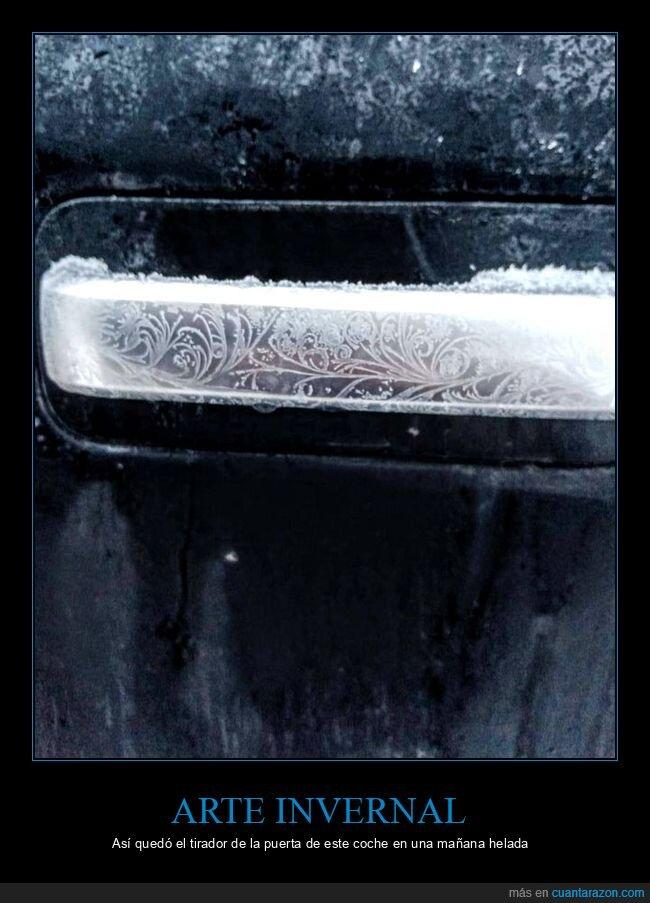 arte,coche,hielo