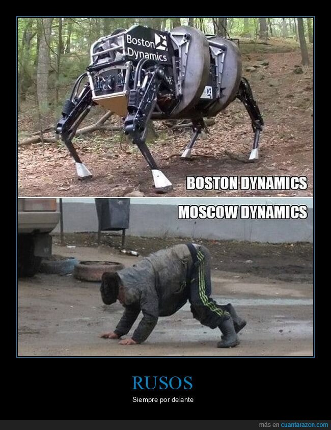 boston dynamics,parecidos,rusos