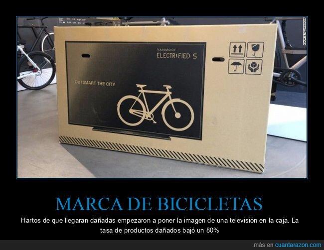 bicicletas,caja,televisión