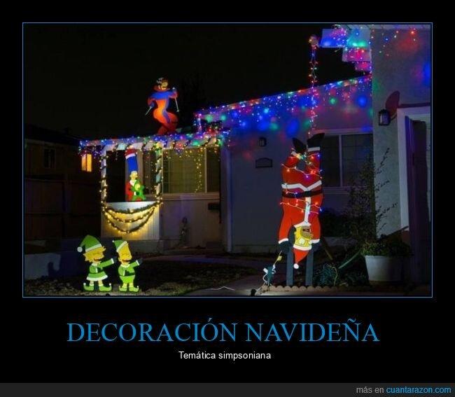 casa,decoración navideña,simpsons