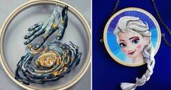 Enlace a Artistas que llevan el arte del bordado a otro nivel