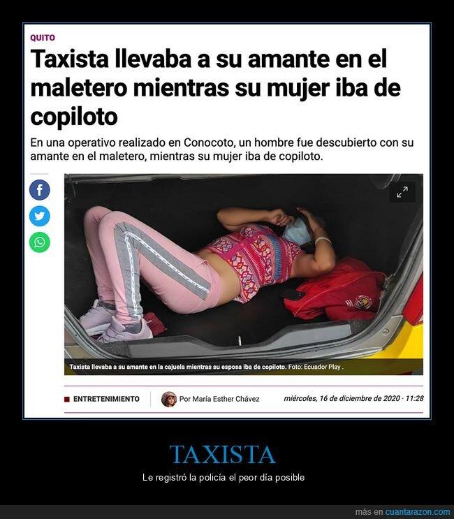 amante,pillada,taxista