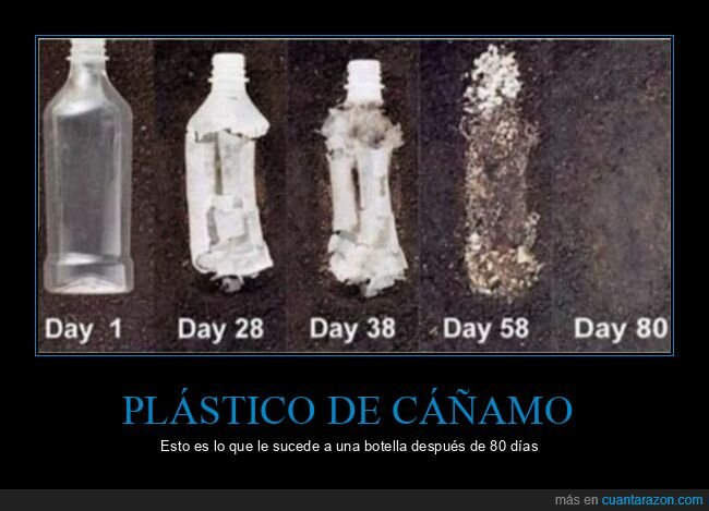 botella,plástico de cáñamo