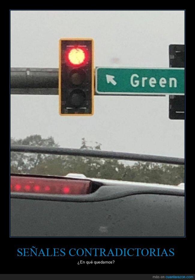 cartel,rojo,saméforo,verde