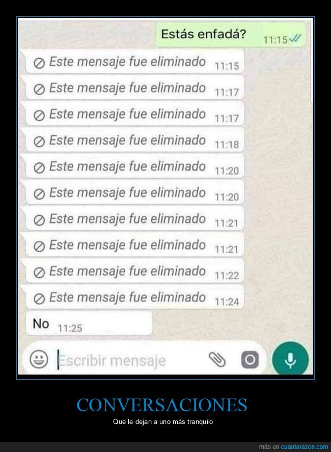 eliminados,enfadada,mensajes,whatsapp