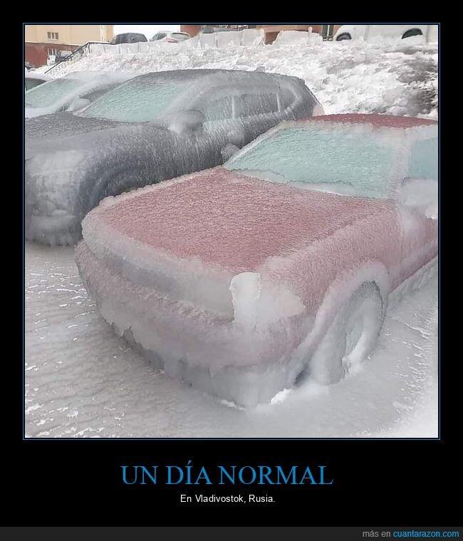 coche,hielo,rusia,vladivostok