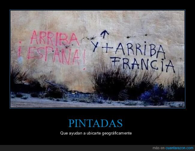 arriba,arriba españa,francia,graffitis