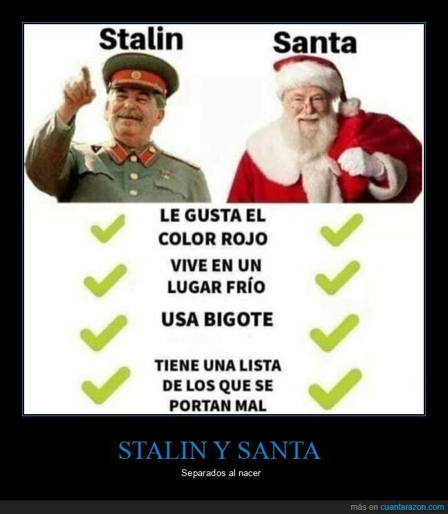 comparativa,santaclaus,stalin