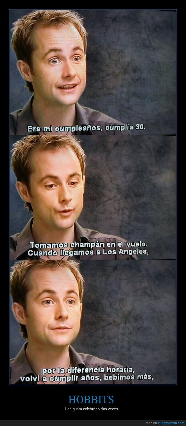 celebrar,cumpleaños,diferencia horaria,hobbits