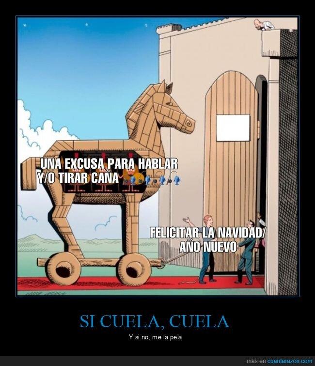 caballo de troya,felicitar,navidad