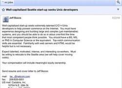 Enlace a Primera oferta de trabajo para currar en Amazon en 1994