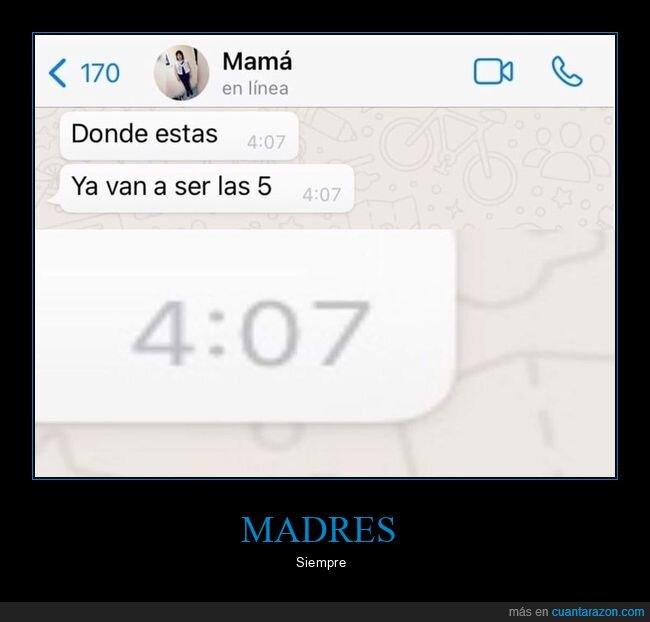 adelantarse,hora,madre,whatsapp