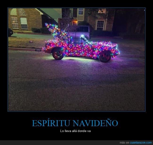 coche,luces,navidad