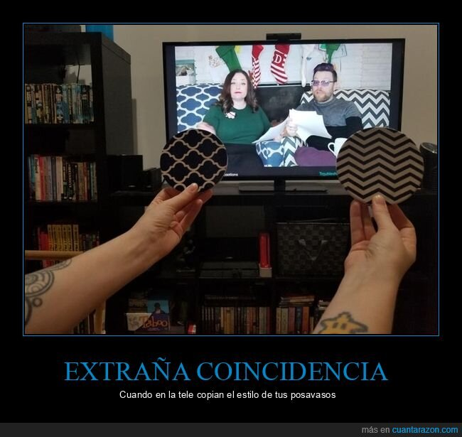 coincidencia,posavasos,sillas,televisión