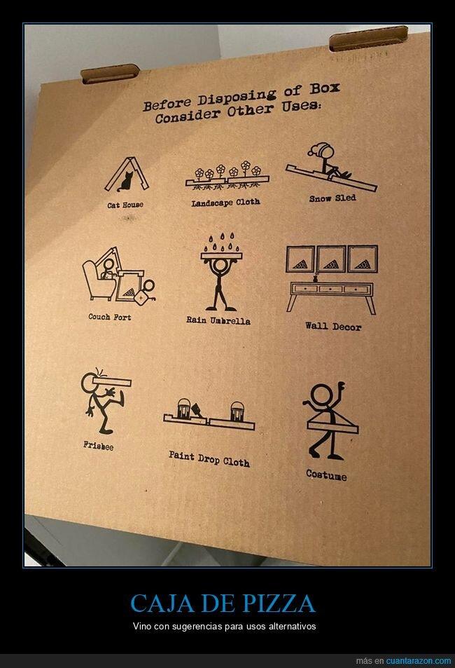 caja,pizza,usos alternativos