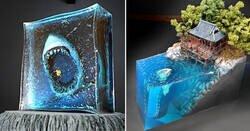 Enlace a Dioramas de resina que exploran las fobias submarinas mas aterradoras