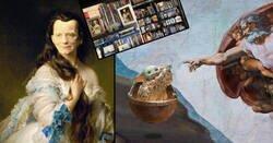 Enlace a Un artista cambia las fotos de casa por motivos de Star Wars para probar la atención de su mujer