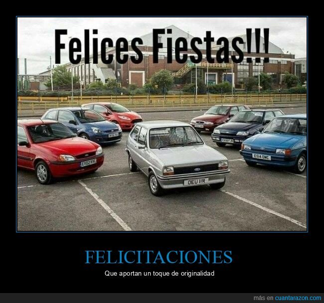 coches,felices fiestas,ford fiesta