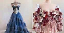 Enlace a Diseñadora autodidacta muestra fotos de algunos de los vestidos que hizo en 2020