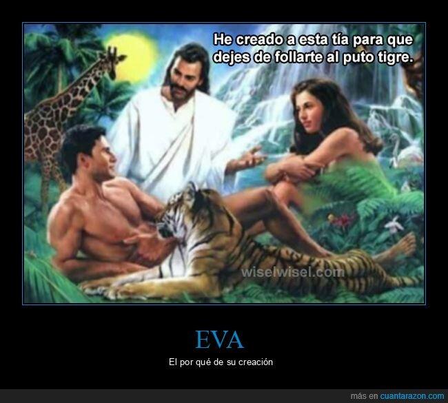 adán,eva,jesús,tigre