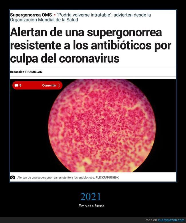 antibióticos,coronavirus,resistente,supergonorrea