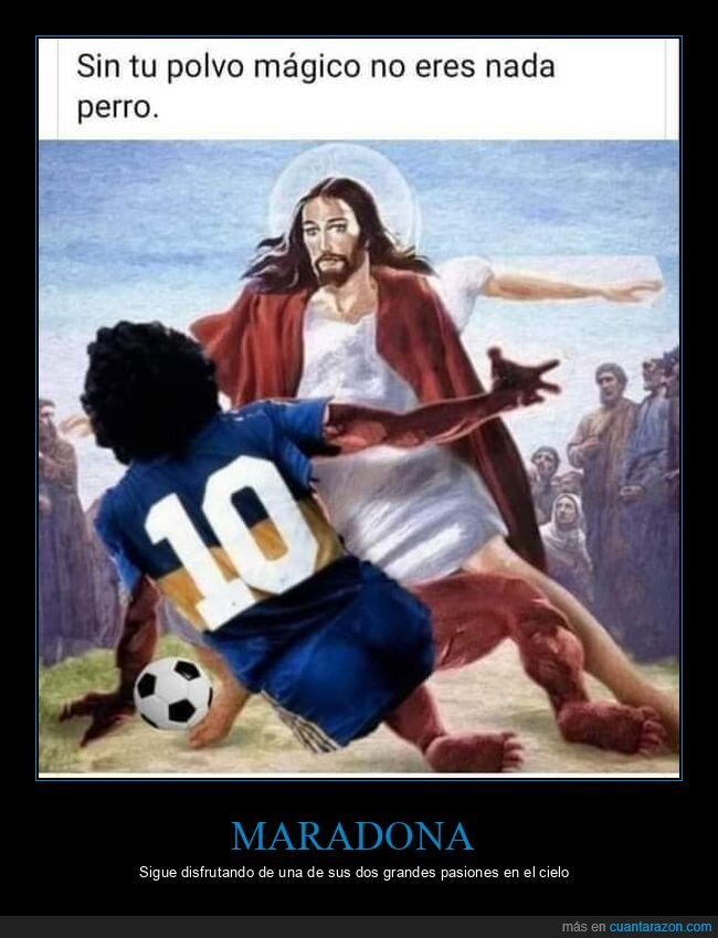 coca,fútbol,jesús,maradona,yisus